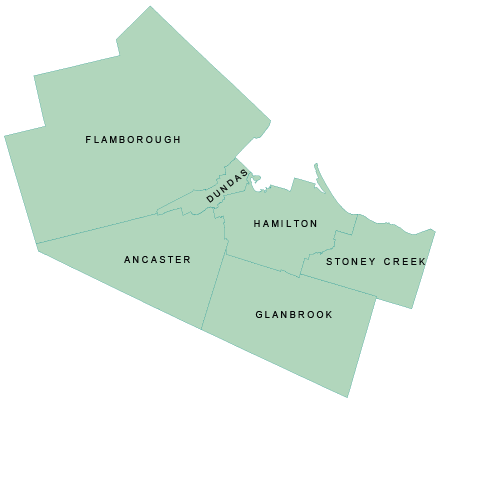City of Hamilton Regional Map